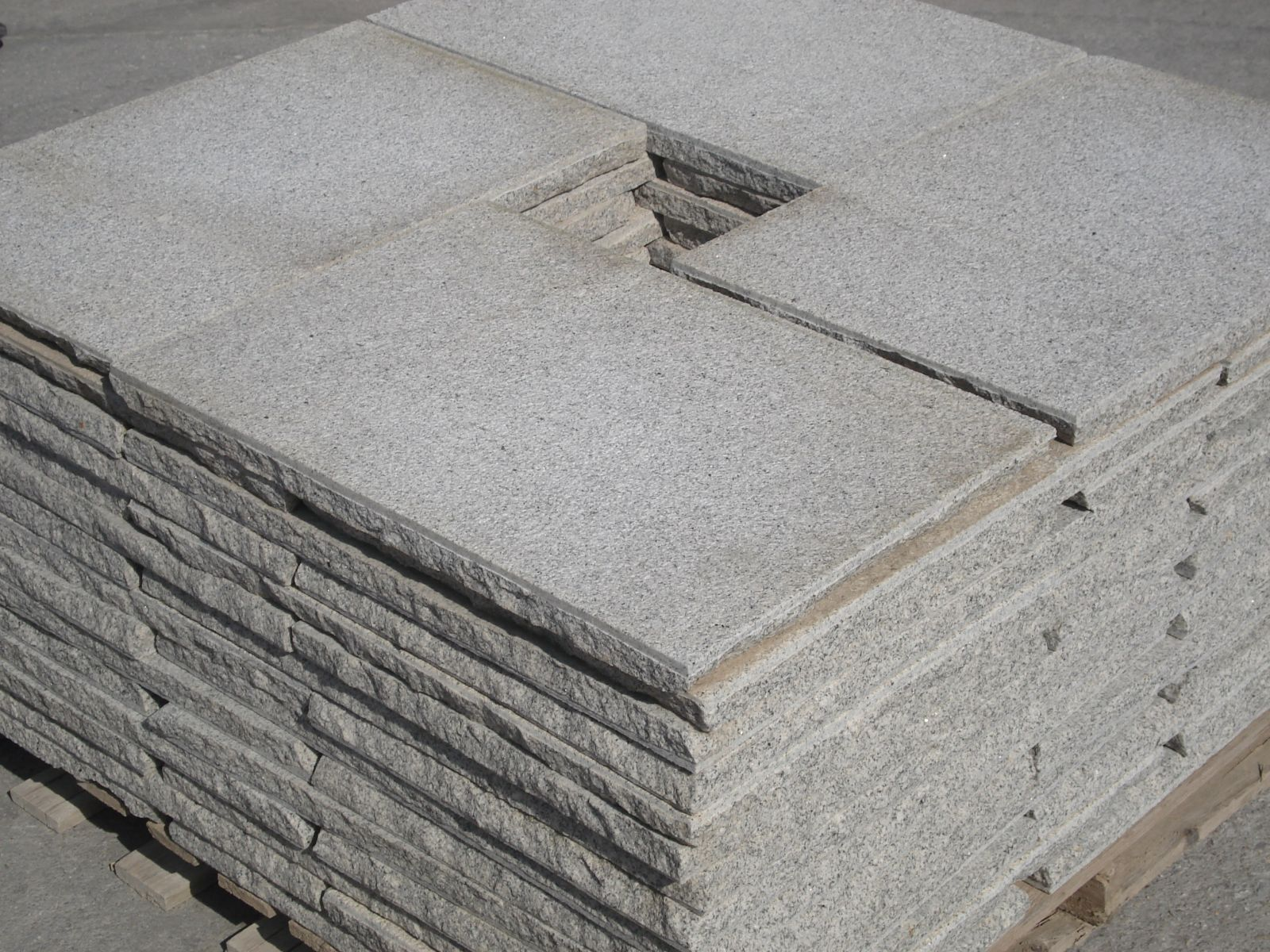 Grey hewn Granite Stones