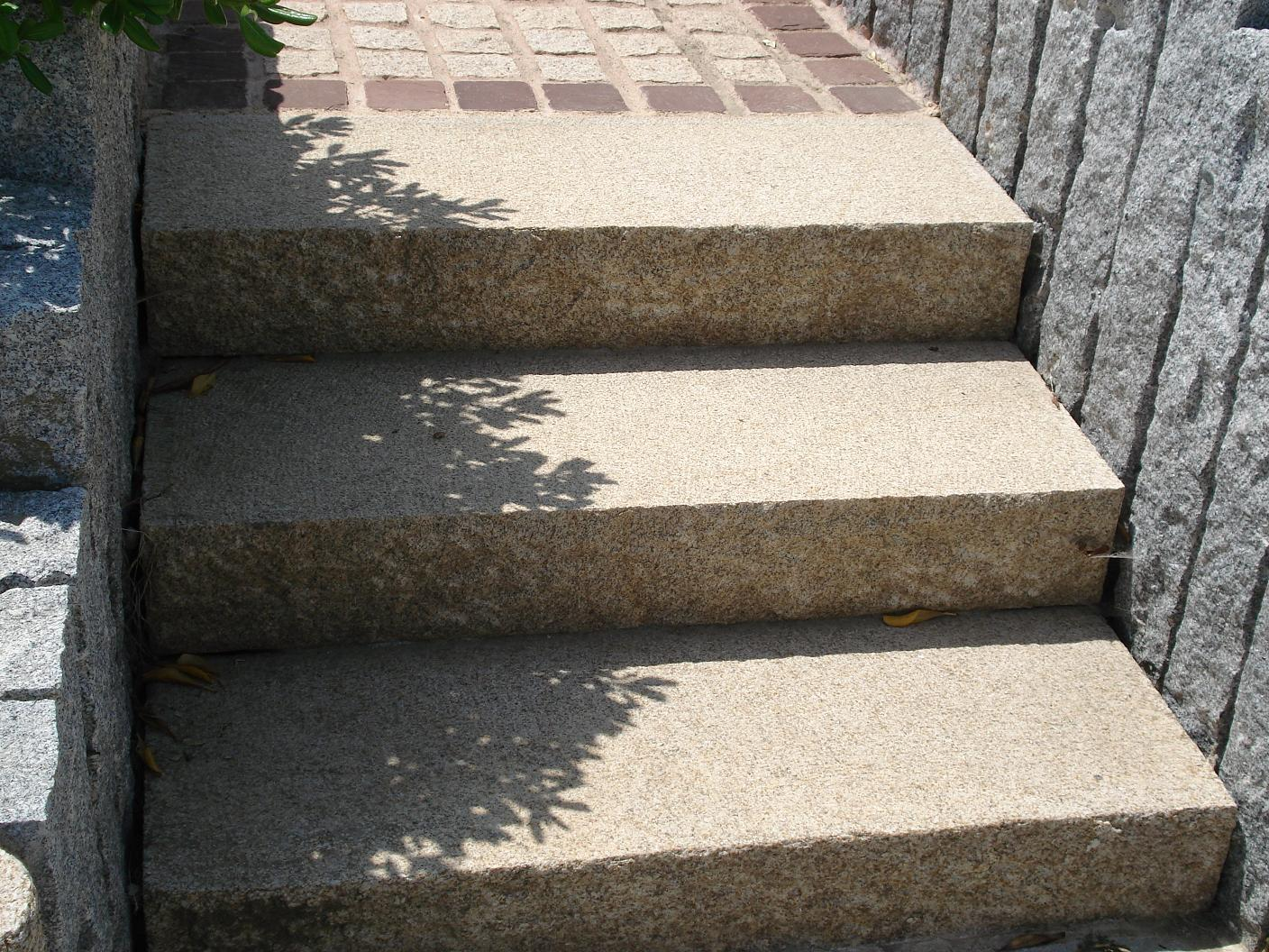 Beige granite stair tiles