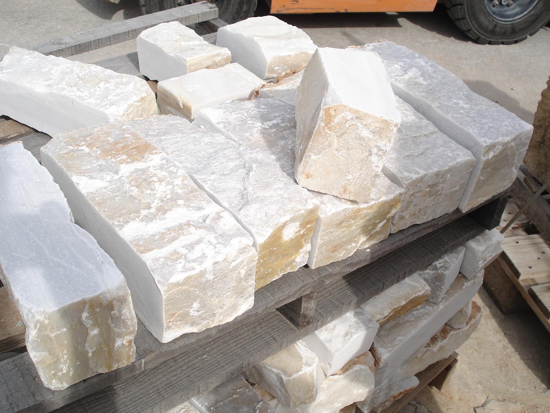 White Corner Stones